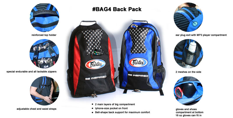 fairtex back pack features