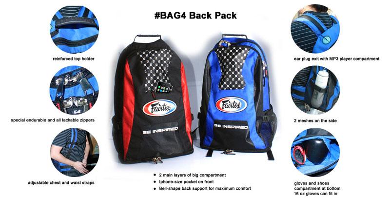 fairtex back pack features