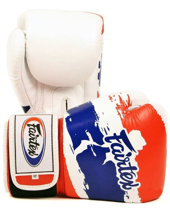 fairtex thailand flag muay thai gloves