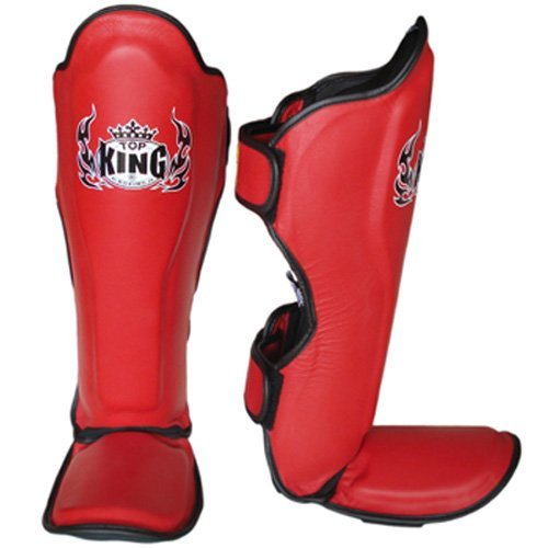 top king shin guards red 2