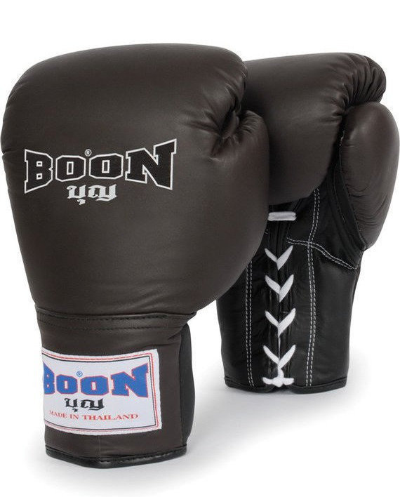 boon brown lace up gloves