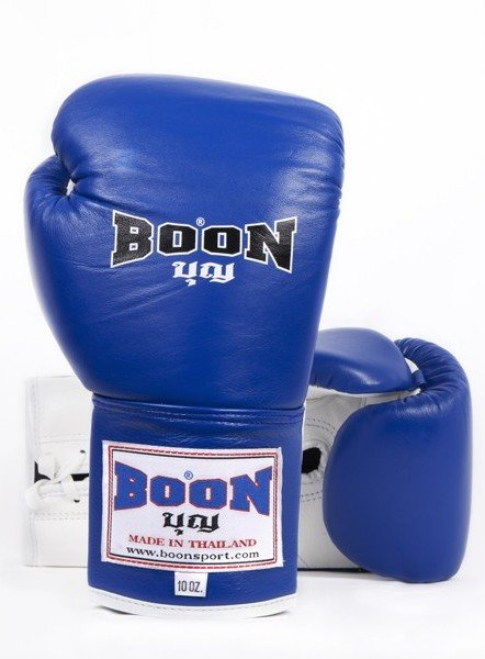 boon gloves blue lace up