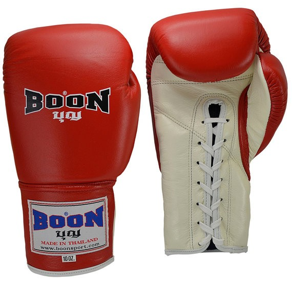 boon gloves red lace up