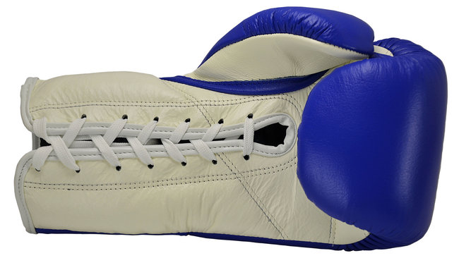 boon lace up gloves blue laces