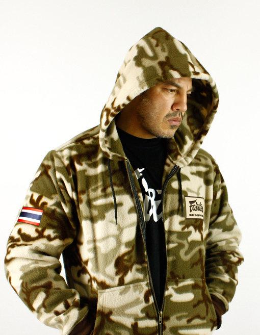 fairtex camo hoodie brown front