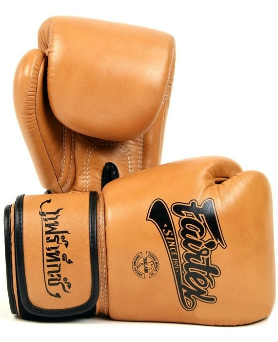 fairtex classic brown gloves