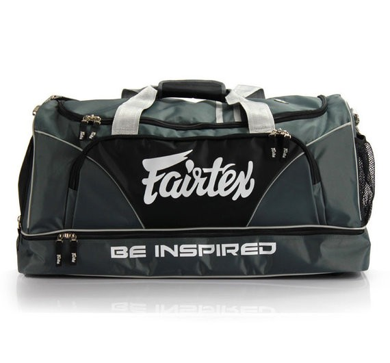 fairtex duffel bag grey color
