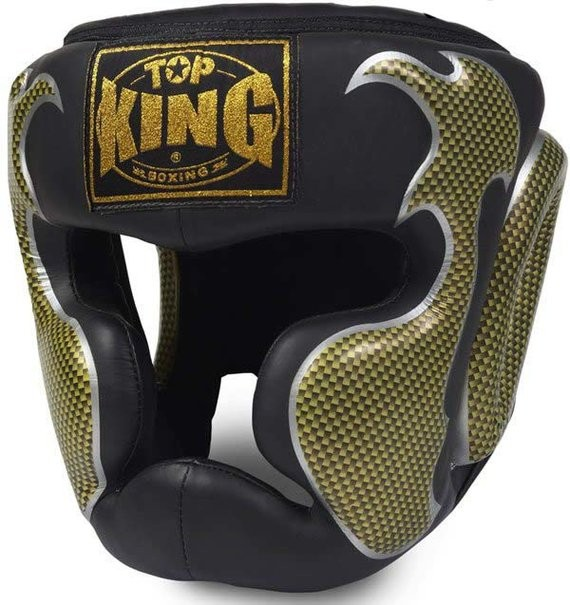 top king empower black and gold headguard