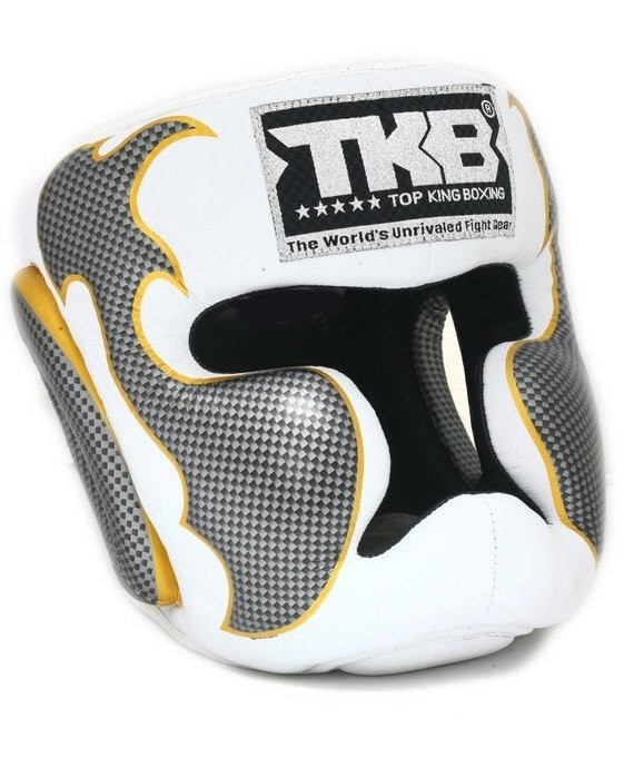 top king empower head guard white