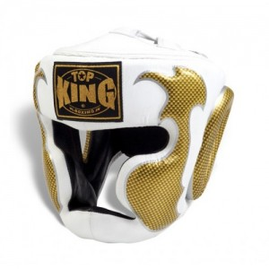 top king empower headgear white and gold