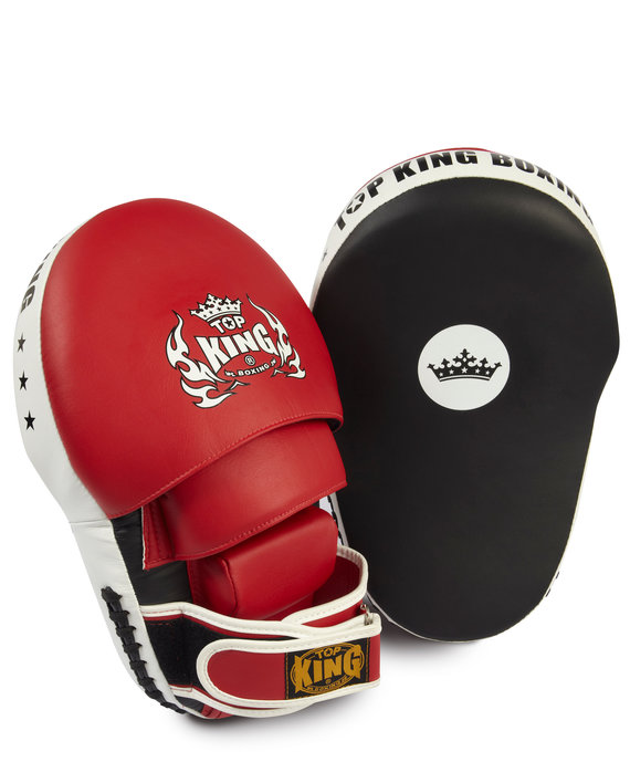 top king focus mitts red