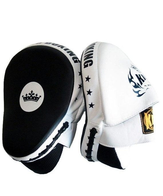 top king focus mitts white super