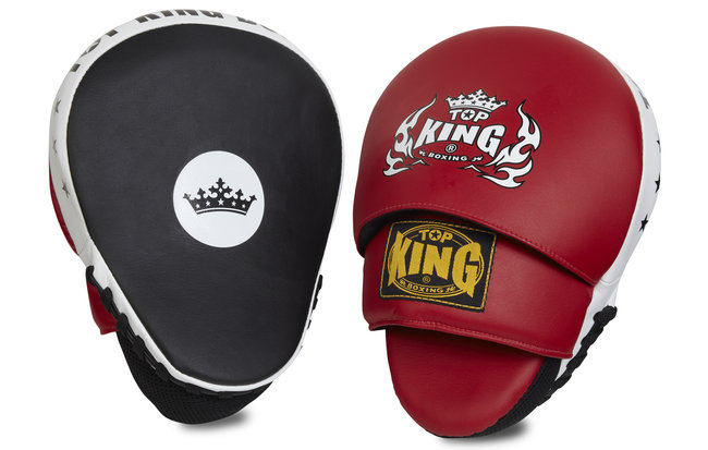 top king red focus mitts