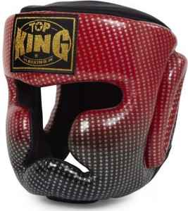 top king super star head guard red