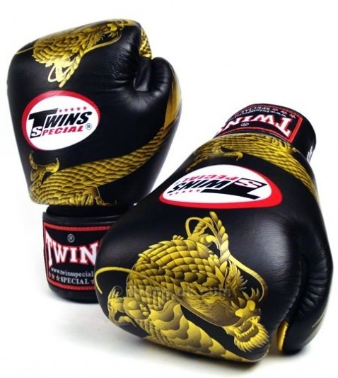 twins chinese dragon gloves