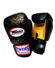 twins dragon gloves black and gold