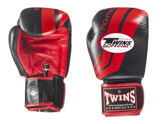 twins fighting spirit gloves red and black