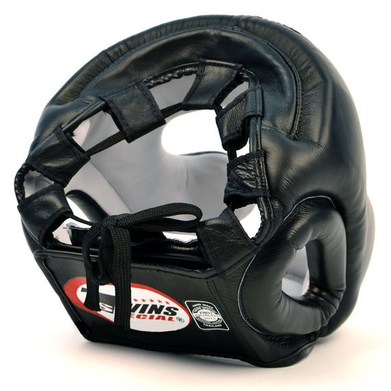 twins muay thai head guard back