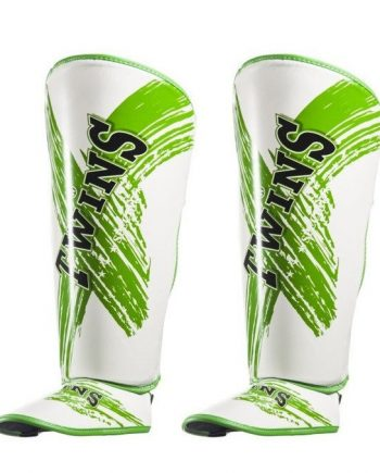 twins shin guards white and green