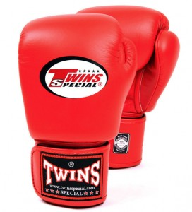 twins special red gloves