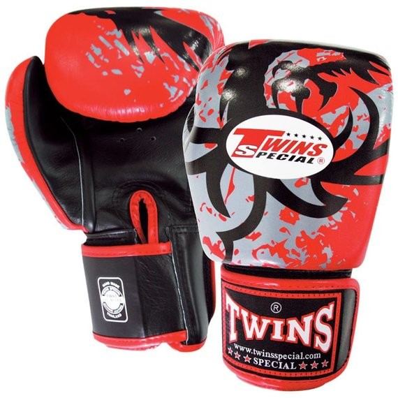 twins tribal dragon red gloves